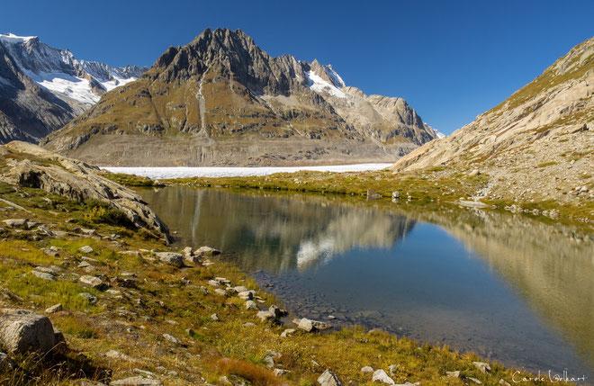 Märjelensee mit Blick zurück zum Aletschgletscher