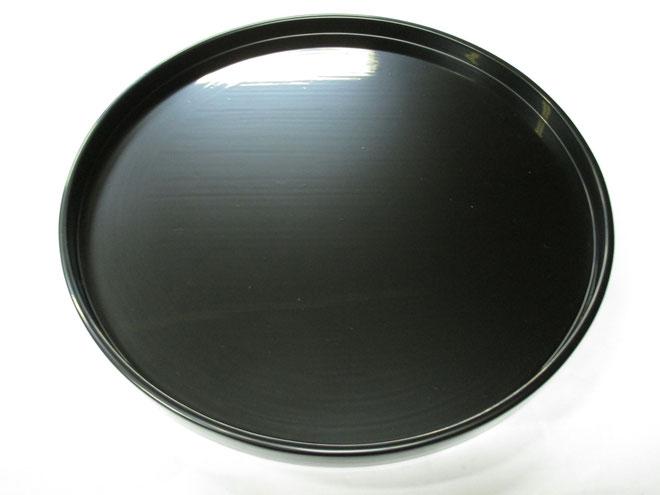 丸盆「扇松」 中塗り