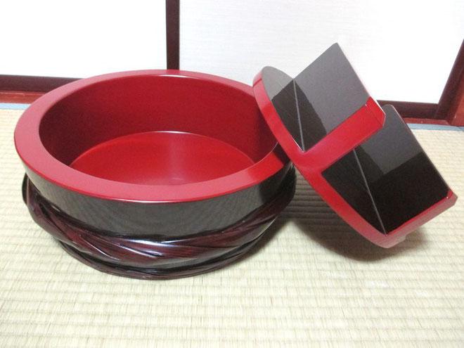 寿司桶の漆器修理完了