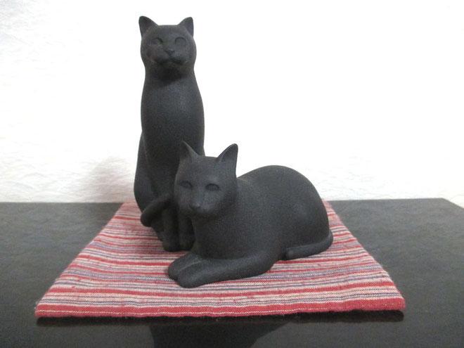 石目塗りの猫