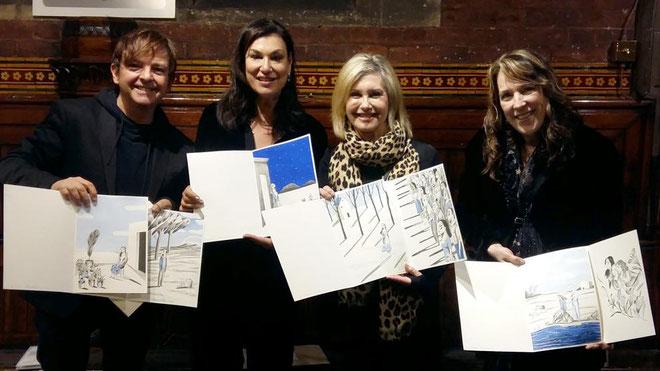 D'esquerra a dreta: Ignasi Blanch, Amy Sky, Olivia Newton-John i Beth Nielsen Chapman