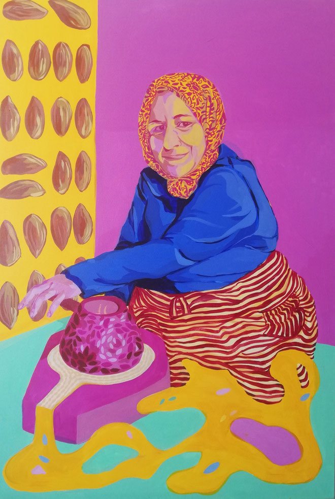 Femme Marocain III - 2019 - 70x100 cm, acryl op doek