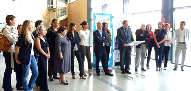 Les créateurs d'entreprises, les membres du jury et les partenaires de l'opération