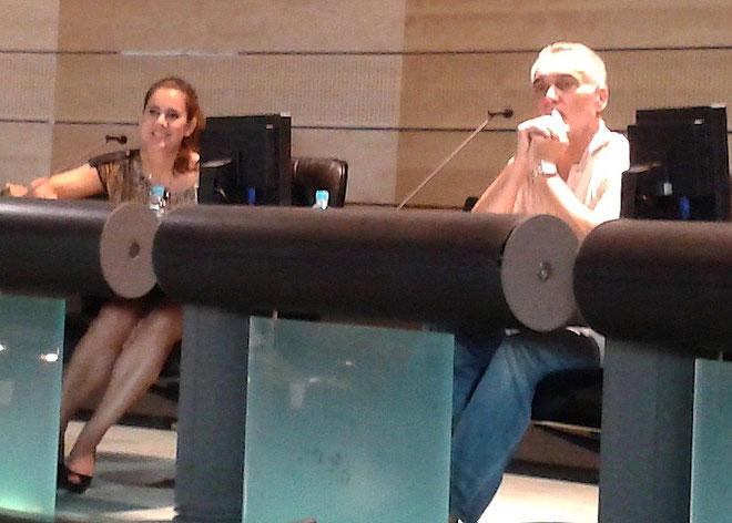 Sylvia Agostini, maître de conférences à l'Université de Corse, Gérard Romiti, président du comité régional des pêches et élevages marins