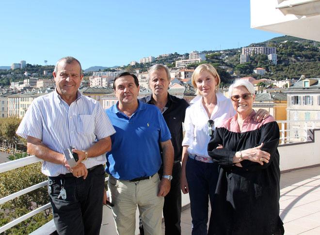 Les organisateurs et les élus de la communauté d'agglomération de Bastia