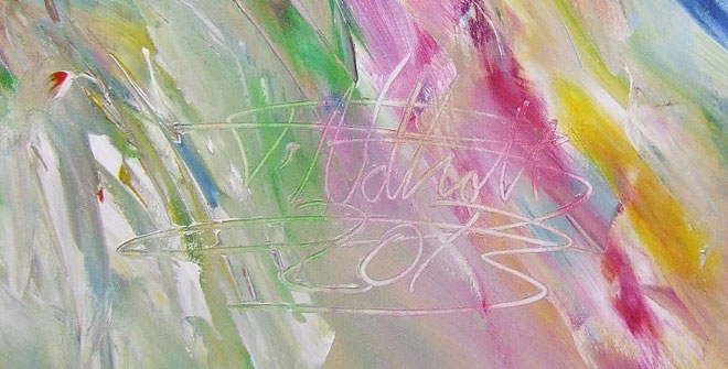 Signiert und datiert vom Kunstmaler Peter Nottrott.