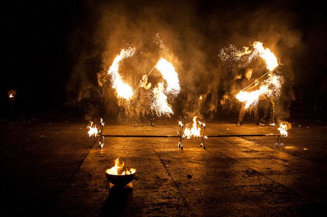 Feuerschlucker in Füssen im Allgäu