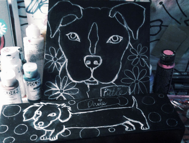 sampernoski, artistlife, customart, dogportrait, artstudio, lovetopaint