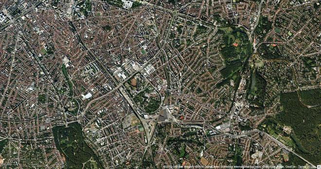 La Plaine dans la commune d'Ixelles