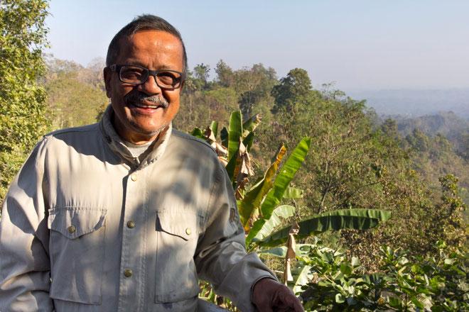 Hasanas Mansuras Milončori kaimo poilsiavietėje Bangladeše Čitagongo kalvų ruože