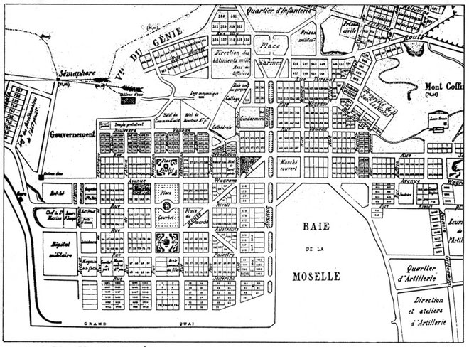 IX - PLAN DE NOUMÉA. (Par E. Barthès, architecte-voyer, 1904. - Hôtel de Ville de Nouméa).
