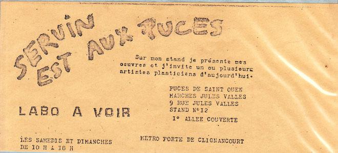 tract destiné aux artistes