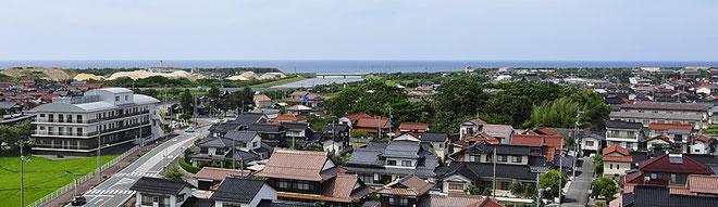 日本海側一望風景