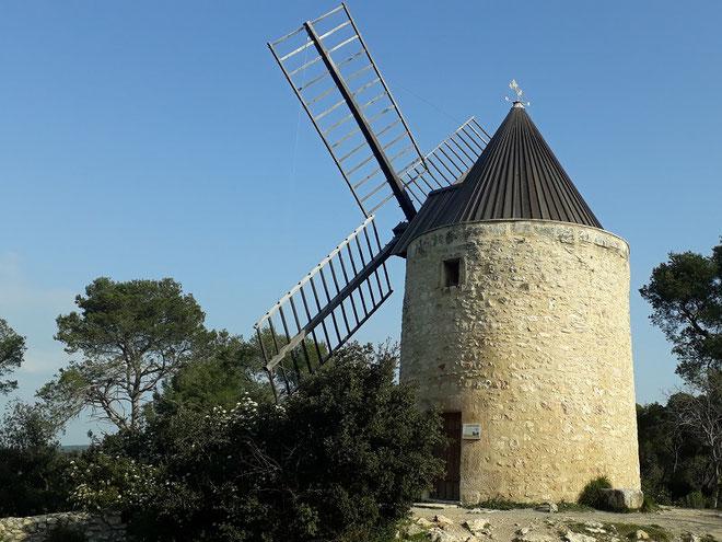 le Moulin Tissot Avon, propriété de la commune de Fontvieille  depuis 2015, entièrement  restauré en 2016