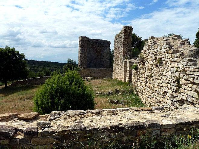 Le camp de César : site archéologique de 18 ha (à 2 km au Nord de Laudun - Gard)