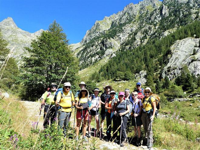 Premier jour, mercredi 26 août 2020 : départ pour le refuge de Nice à 2232 mètres d'altitude.