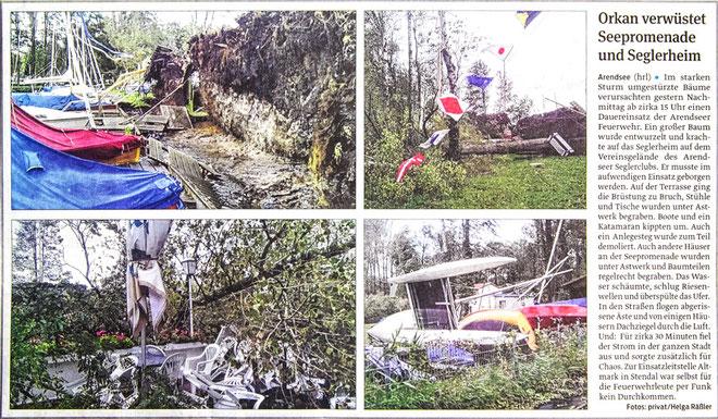 """Sturmschäden im SCA nach Orkan """"Xavier"""""""