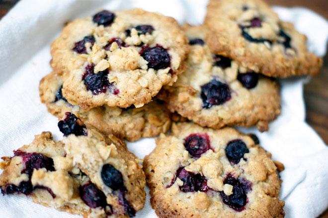 Streusel-Cookies mit Blaubeeren