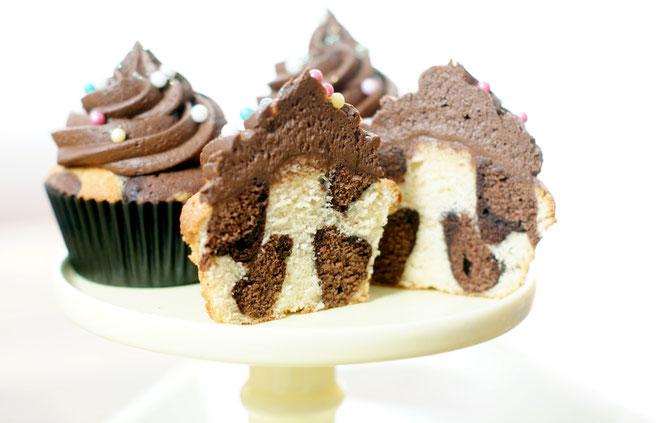 Leoparden-Cupcakes