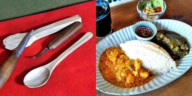 長良川おんぱく「カレーの美味しいカフェで Myスプーンづくり」