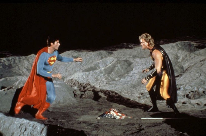 Fotograma de la película Superman IV.