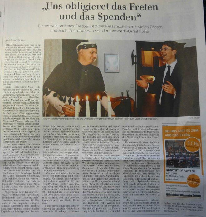 ©Hildesheimer Allgemeine Zeitung,28.11.2016