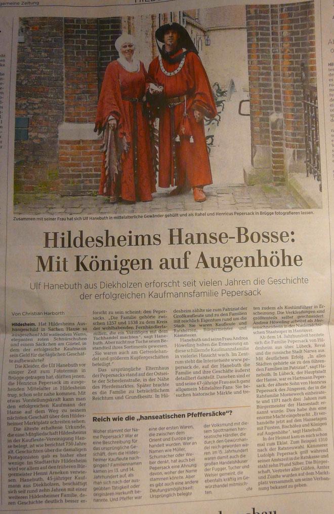 ©2017, Hildesheimer Allgemeine Zeitung (cha)