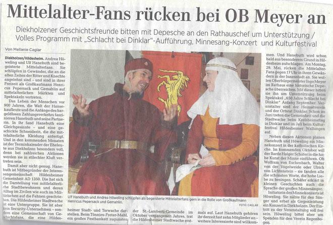 ©Die Hildesheimer Allgemeine Zeitung berichtet am 24.5.2017