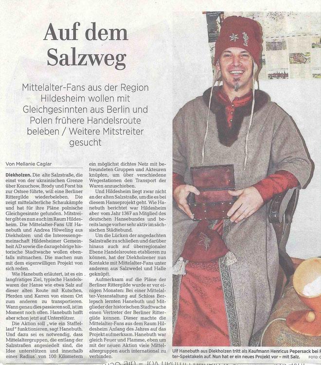 ©2018 Die Hildesheimer Allgemeine Zeitung berichtet über das Hanseprojekt