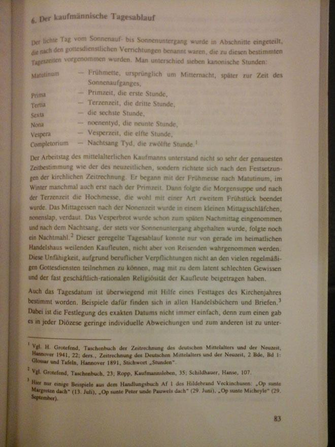 aus dem Buch: Der berufliche Alltag eines spätmittelalterlichen Hansekaufmanns, von Thorsten Afflerbach