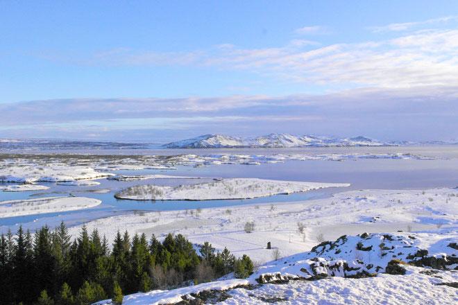 Þingvallavatn lake lago Islanda Þingvellir National Park Parco Nazionale UNESCO site Circolo d'Oro Islanda