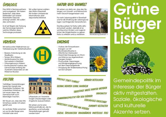 Unsere Kommunalpolitischen Inhalte für Eberstadt