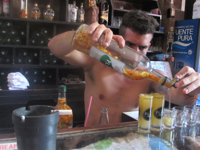 working in a bar in Nicaragua