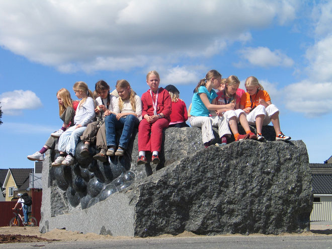 """Boble"", Østre Halsen skole i Larvik"