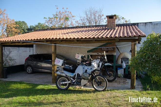 Uruguay - Südamerika - Reise - Motorrad - Honda Transalp - Unser RBNB Apartment etwas außerhalb von Montevideo