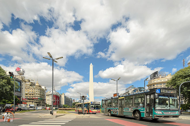 Argentinien - Südamerika - Reise - Motorrad - Honda Transalp - Obelisco -  Buenos Aires