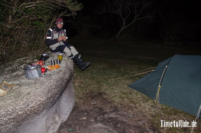 Uruguay - Südamerika - Reise - Motorrad - Honda Transalp - Feierabendbier an der Laguna
