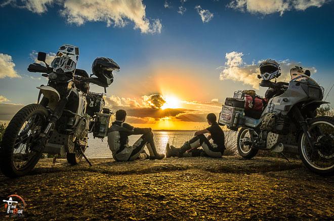 Uruguay - Südamerika - Reise - Motorrad - Honda Transalp - Kleine Rast am Ufer der Laguna Negra