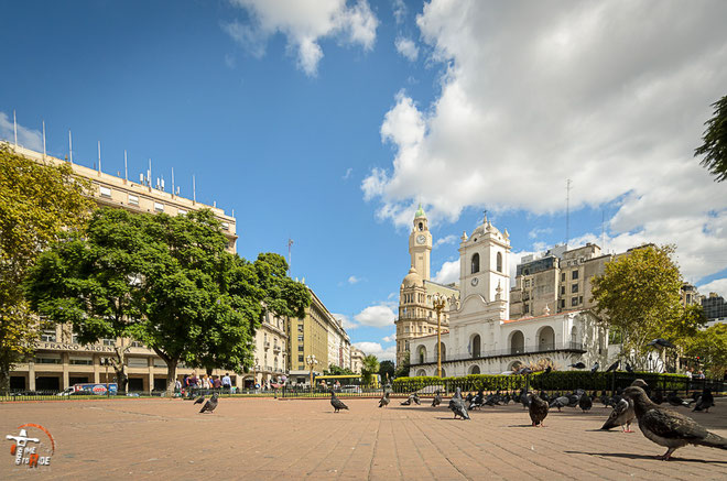 Argentinien - Südamerika - Reise - Motorrad - Honda Transalp - Plaza de Mayo -  Buenos Aires