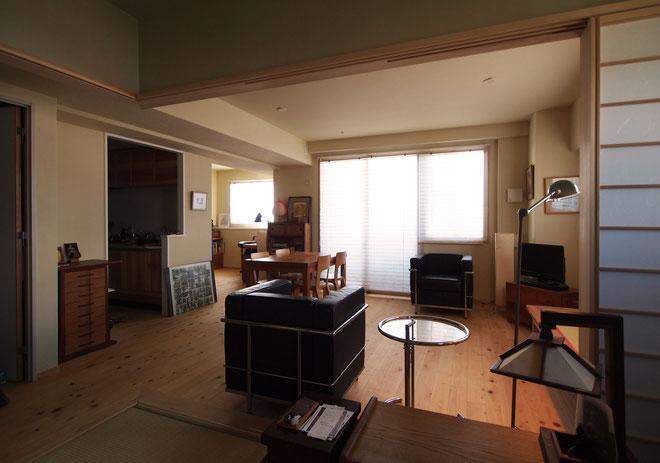 マンションの一室を桧と珪藻土を使ってリノベーション