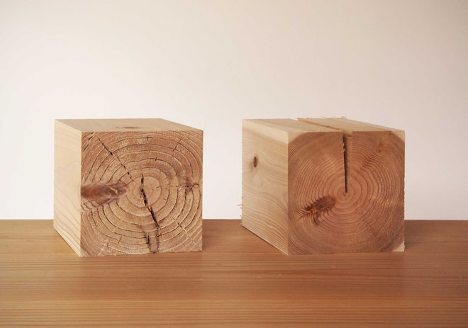 人工乾燥材と自然乾燥材
