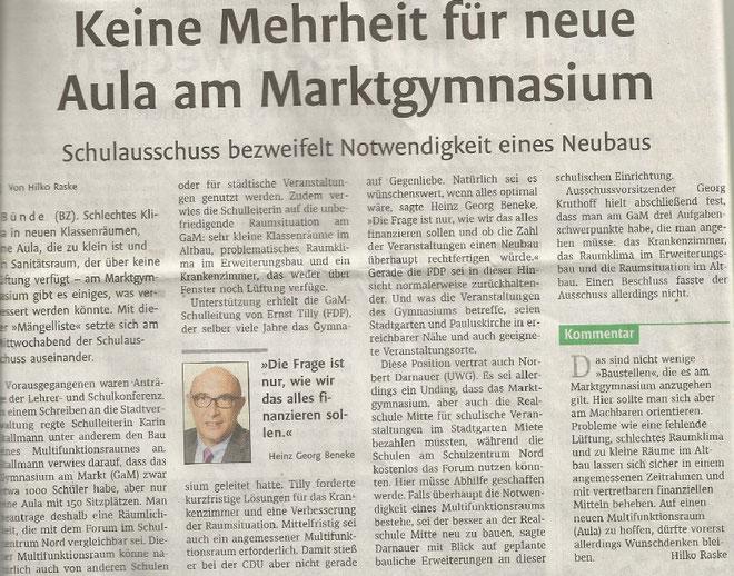 Mit freundlicher Genehmigung der Bünder Zeitung (Artikel vom 28.06.2019)