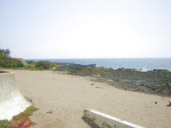 kleiner Strand vor der Tür