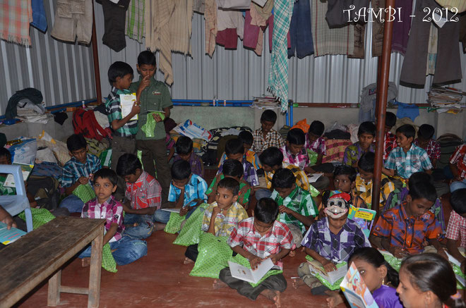 Children with their presents - December 2012