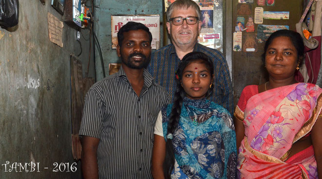Août 2016 - Pavithra et sa famille
