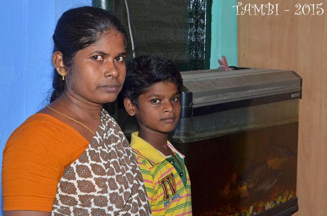 Suresh et sa maman - juillet 2015