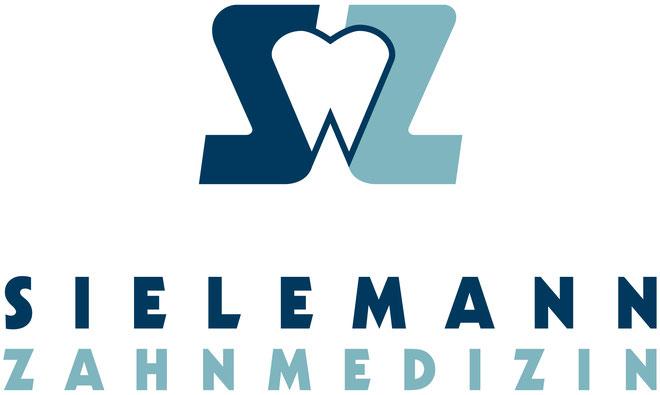Logo-Emblem bestehend aus zwei Buchstaben (S und Z) als Initialen rahmen einen Zahn ein.
