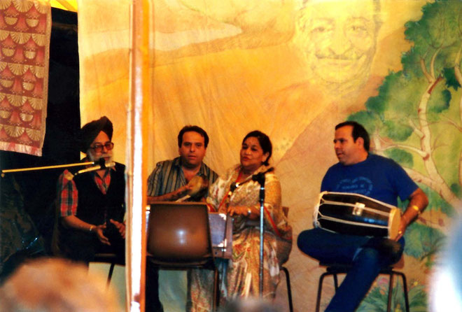 Photo taken by Anthony Zois ; Queensland Anniversary 1988  ( L-R ) Mokham Singh , Rustom Irani, Kusum and Sohrab Irani