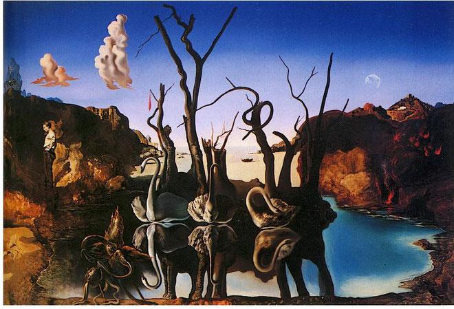 """S. Dalì, """"Cigni che riflettono elefanti"""" (1937)"""