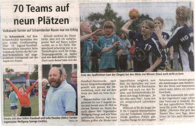 Volksbank-Handball-Tag in Scharmbeck am 03.06.2012